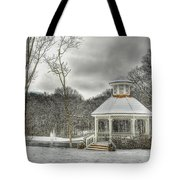 Warm Gazebo On A Cold Day Tote Bag