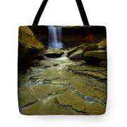 Warm Sky Cool Water Tote Bag by Frozen in Time Fine Art Photography