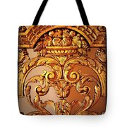 Warm Wood Design With Border Tote Bag