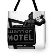 Warrior Motel Tote Bag