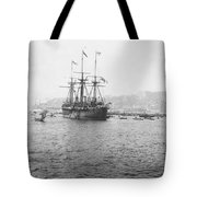 Warship Kaiser On Which Kaiser Wilhelm II Of Germany Came To Istanbul Tote Bag