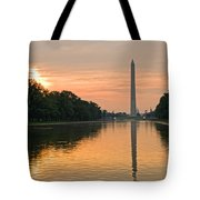 Washington Monument At Dawn Tote Bag
