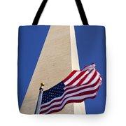 Washington Monument Flag Tote Bag