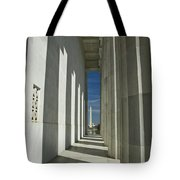 Washington Monument From Lincoln Memorial Tote Bag