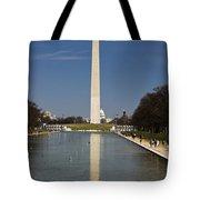 Washington Monument In Reflecting Pool Tote Bag