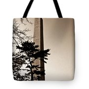 Washington Monument In Sepia Tote Bag