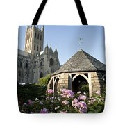 Washington National Cathedral And Stone Tote Bag
