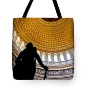 Washington Under Capitol Dome Tote Bag