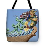 Wat Chaimongkol Pagoda Dragon Finial Dthb787 Tote Bag