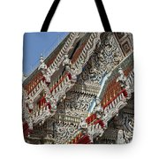 Wat Suan Phlu Ubosot Angel Gable Finials Dthb227 Tote Bag