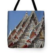 Wat Suan Phlu Ubosot Gable Dthb1132 Tote Bag