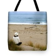Watching The Ocean Tote Bag