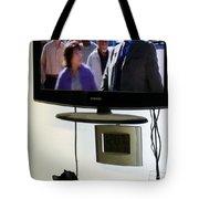 Watching Tv Tote Bag