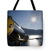 Watching With A Telescope Islands Tote Bag