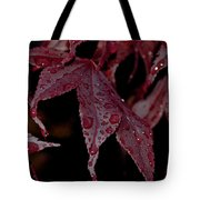 Water Beads Of Red Tote Bag