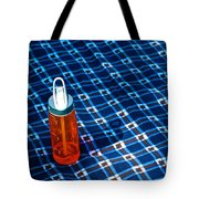 Water Bottle On A Blanket Tote Bag