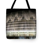 Water Cascade Over Building Tote Bag