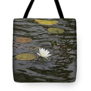 Water Circles On The Lily Pond Tote Bag