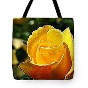 Water Color Paper Rose Tote Bag