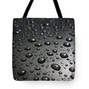 Water Drops On Black Metalica. Business Card. Invitation. Sympathy Note. Tote Bag