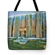 Water Fall Building Tote Bag