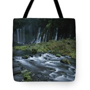 Water Falling And Flowing Over Rocks Tote Bag