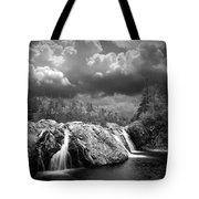 Water Falls At The Aquasabon River Mouth Tote Bag
