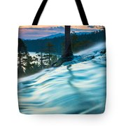 Water Flow Above Emerald Bay Tote Bag