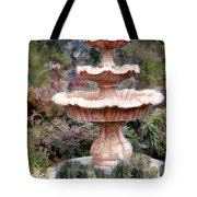 Water Fountain In  The Forest Tote Bag