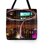 Water Fountain With Circle Seven Shape Tote Bag