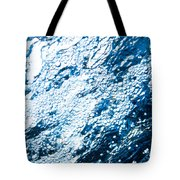 Water In A Pool Which Lock Like A Frozen Water Stream Of A River Tote Bag
