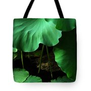 Water Lilies Of Green Tote Bag