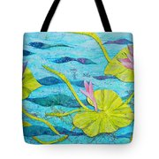 Water Lilies Panorama Tote Bag
