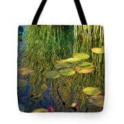 Water Lilies Reflection Tote Bag