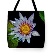 Water Lilly Paint Tote Bag