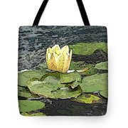 Water Lily Cometh Tote Bag