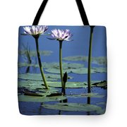 Water Lily Flowers Bloom From A Wetland Tote Bag