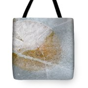 Water Lily Leaf In Ice, Boggy Lake Tote Bag