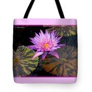 Water Lily Magic Tote Bag