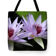 Water Lily Twins Tote Bag
