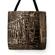 Water Mill In Action Tote Bag by Douglas Barnett