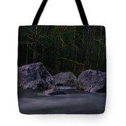 Water Moving Around Rock Tote Bag