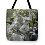 Water Nymph And Hippocampus  Tote Bag