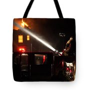 Water On The Fire From Pumper Truck Tote Bag