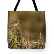 Water Pipit On Post Tote Bag