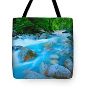 Water Rushing Through Rocks Tote Bag