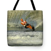 Water Skiing Magic Of Water 4 Tote Bag by Bob Christopher