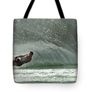 Water Skiing Magic Of Water 7 Tote Bag by Bob Christopher