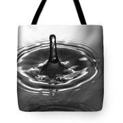 Water Splash In Black And White Tote Bag
