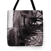 Water Wheel Old Mill Cherokee North Carolina  Tote Bag by Susanne Van Hulst